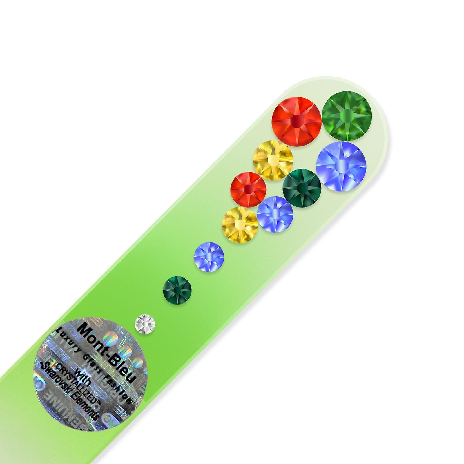 Small glass nail file with Swarovski crystals MC-S1-12