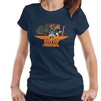 Dexters Laboratory Justice Friends Women's T-Shirt