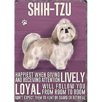Medium Wall Plaque 200mm x 150mm - Shih-Tzu by The Original Metal Sign Co