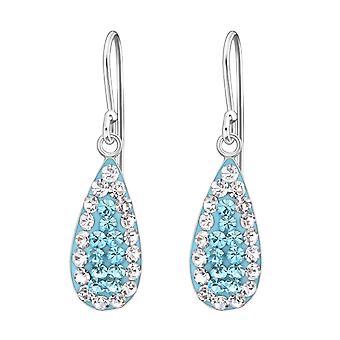 Drop - 925 Sterling Silver Crystal Earrings - W19052X