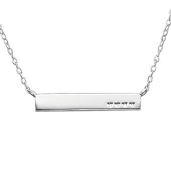 Heart Inline - 925 Sterling Silver Plain Necklaces - W22361X