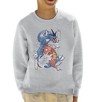 Pokemon Koi Magikarp And Gyarados Kid's Sweatshirt