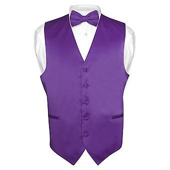 Robe Vest & BowTie solide noeud papillon de hommes définie pour costume ou Tux