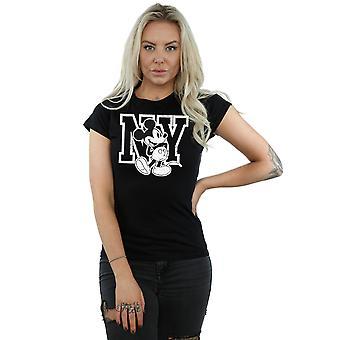 Disney Women's Mickey Mouse NY Kicking T-Shirt