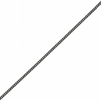9ct White Gold 1mm wide bright cut Curb Pendant Chain 20 inches