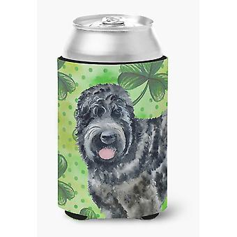 Black Russian Terrier St Patrick's Can or Bottle Hugger