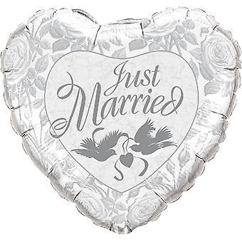 Folie ballong hjertet nygift bryllup register ca 45 cm