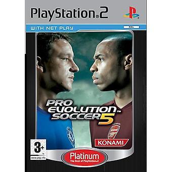 Pro Evolution Soccer 5 Platinum (PS2) - Werksgedichtet