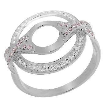Orphelia srebro 925 pierścień podwójne koło X cyrkonu ZR-7095