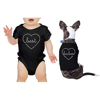 Best Babes Pet Baby Matching Shirts Black Bodysuit Cute Baby Gifts