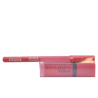 Bourjois Rouge Edition Velvet Lipstick #03 + Contour Lipliner #6 gratis för kvinnor