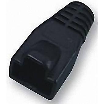 Manga de alivio de tensión RJ45 PC MHRJ45SRB-BK negro MH conectores 6510-0100-06 1