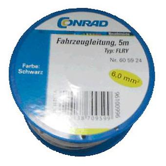 Conrad komponenter 605924 Automotive tråd FLRY-B 1 x 6 mm² svart 5 m