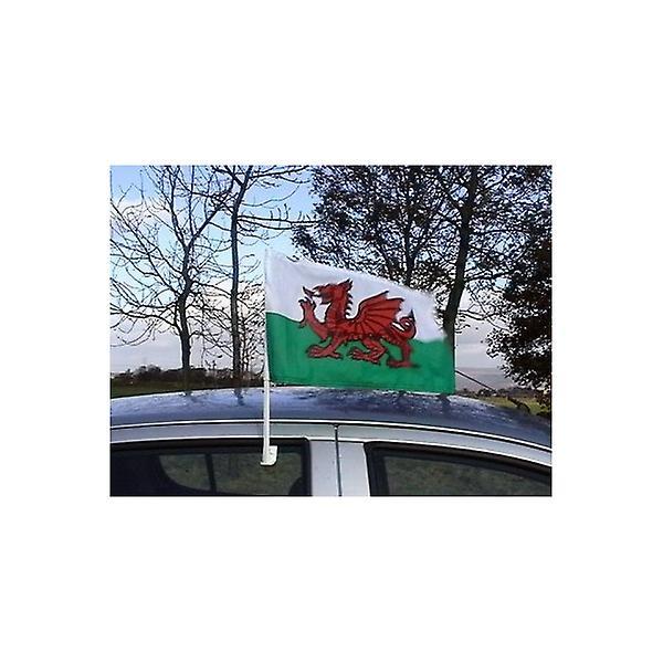 Union Jack Wear Wales Car Flag