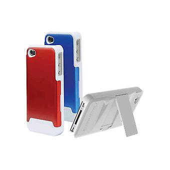 5 Pack -Scosche Polycarbonate case w/ interchangeable backs for Apple iPhone 4/4s - Red & Blue
