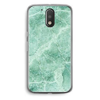 Motorola Moto G4/G4 Plus Transparent fodral (Soft) - grön marmor