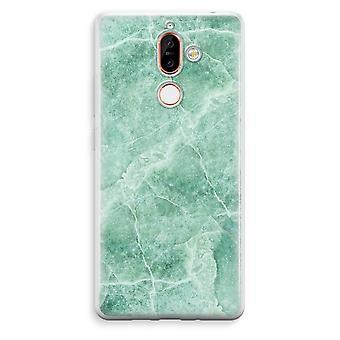 Nokia 7 Plus transparentes Gehäuse (Soft) - grüner Marmor