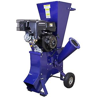 15HP Wood Chipper Petrol Garden Tree Commercial Timber Brush Branch Shredder