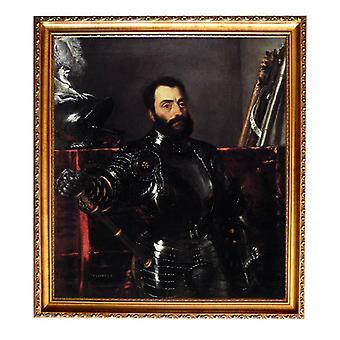 Med ram Portrait of Francesco Maria della Rovere,Titian,61x51cm