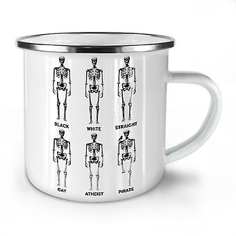 Funny Equality NEW WhiteTea Coffee Enamel Mug10 oz | Wellcoda