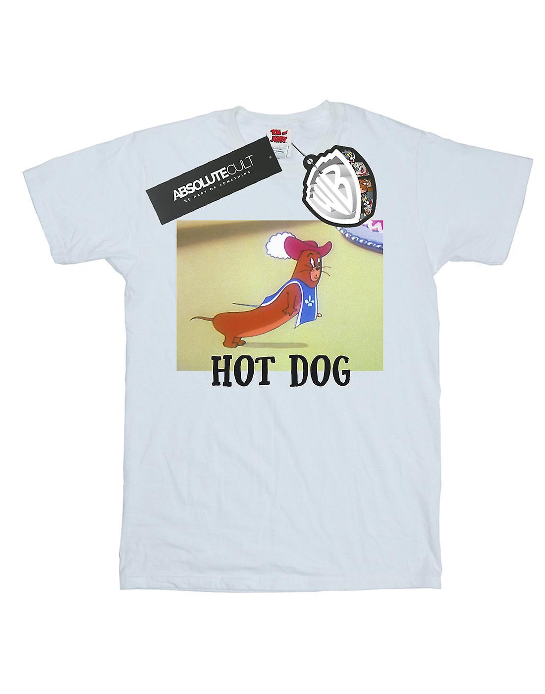 Tom And Jerry Women's Hot Dog Boyfriend Fit T-Shirt