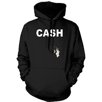 Mens Hoodie -  Johnny Cash - Hurt - Man In Black