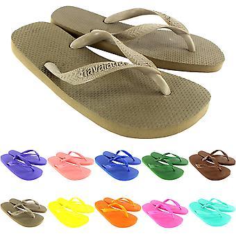 Womens Havaianas Top Holiday Beach Flip Flops Summer Sandals Slip On