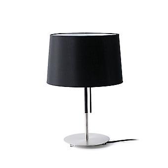 Faro - Volta nikkel og sort bord lampe FARO20026