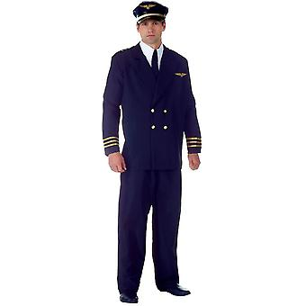 Mr Pilot Adult Plus Costume