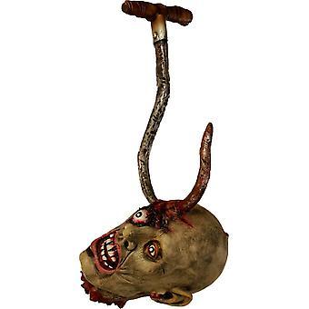 Ghoul Head On A Hook. Halloween Heads.