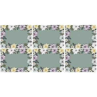 Pimpernel Atrium Floral Placemats, Set van 6