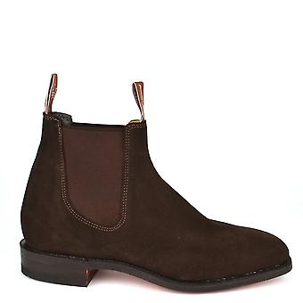 R.M. Williams Men's Craftsman Chocolate Suede Chelsea Boot
