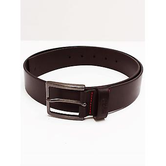 HUGO Gionio Leather Belt - Dark Brown