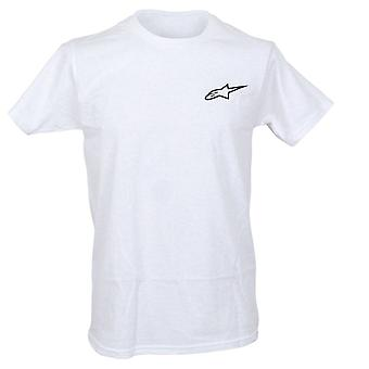 Alpinestars Mens T-Shirt ~ Neu Ageless white/black