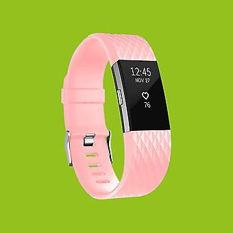 For Fitbit batch 2 plastic / silicone bracelet for men / size L pink watch