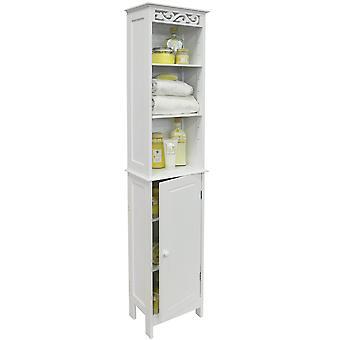 Fleur - Floor Standing bagno alto deposito armadio con ripiani a giorno - bianco