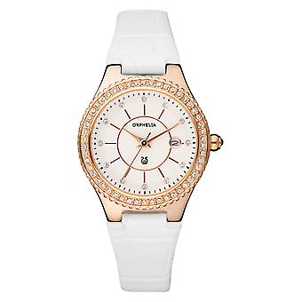 ORPHELIA Ladies Analogue Watch Temptation White Leather 122-1732-81