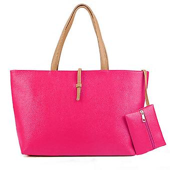 Designer large womens faux leather style summer tote shoulder bag