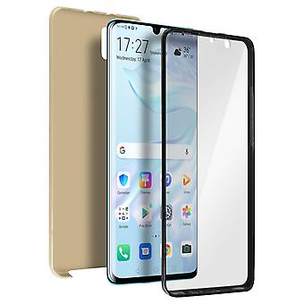 Siliconen case + back cover in polycarbonaat voor Huawei P30 Pro-goud