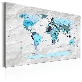 Billede - World Map: Blue Pilgrimages