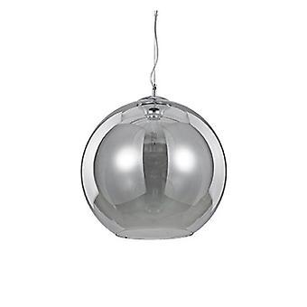 1 Light Medium Dome Ceiling Pendant Grey, Smokey
