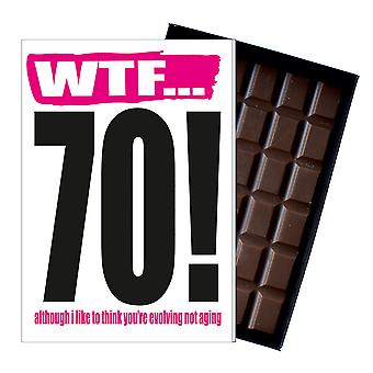 Funny 70th Birthday Gift Rude Naughty Present for Him or Her 85g Chocolate Card IYF118