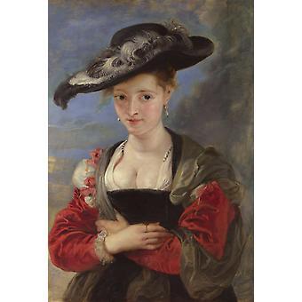 Portrait de Susana Lunden, Peter Paul Rubens, 60x40cm
