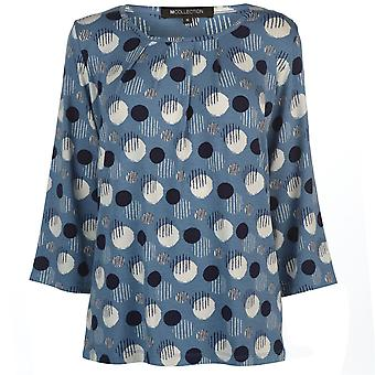 M Collection Womens Printed Top Ladies