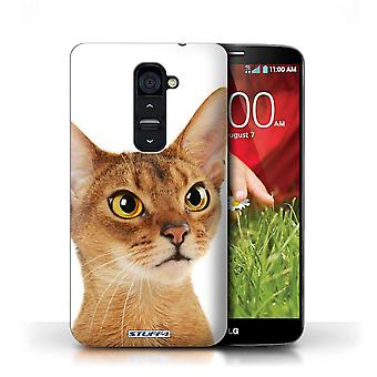 STUFF4 Case/Cover for LG G2/Abyssinian/Cat Breeds