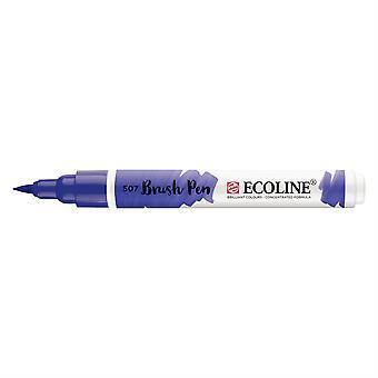 Talens Ecoline Liquid Watercolour Brush Pen - 507 Ultramarine Violet