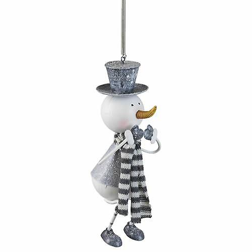 Silver Snowman Metal Springy