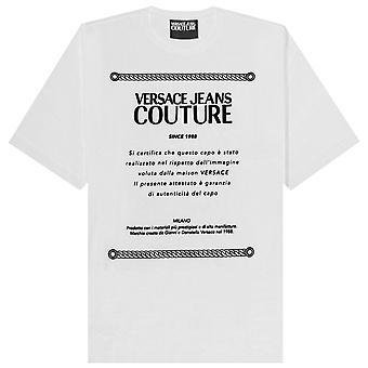 فيرساتشي جينز كوتور شعار البلاك تي شيرت