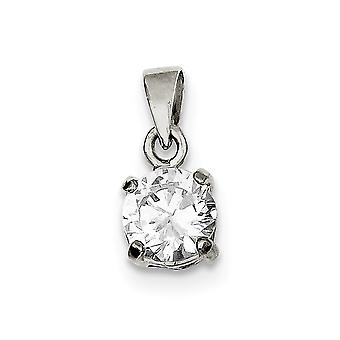 925 sterling sølv polert cz cubic zirconia simulert diamant anheng halskjede smykker gaver til kvinner