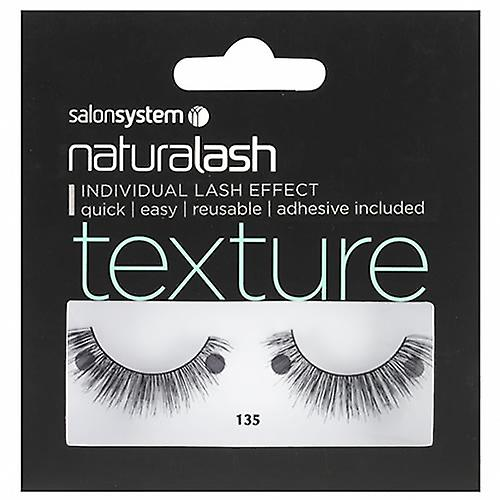 Salon System Naturalash Re-Usable Eyelashes - Black - 135